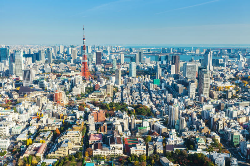 上空から見た東京