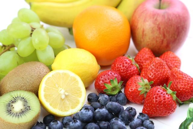並べられた果物