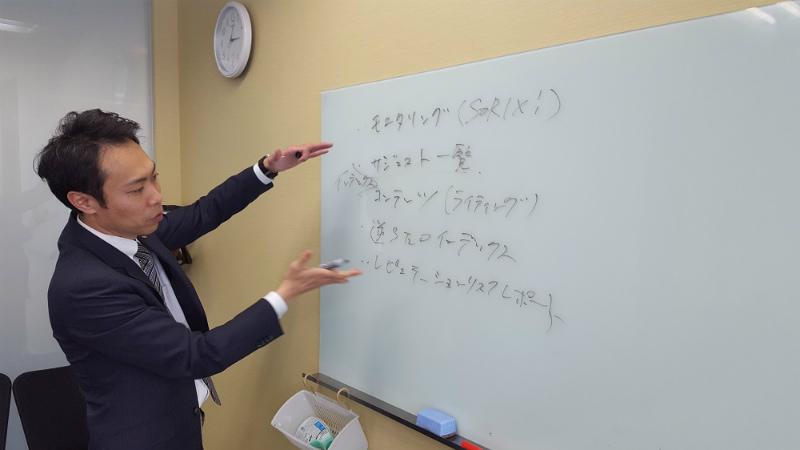 壽永 隆之社長が説明する画像